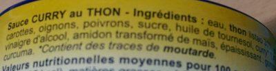 Sauce Curry au Thon - Ingrédients