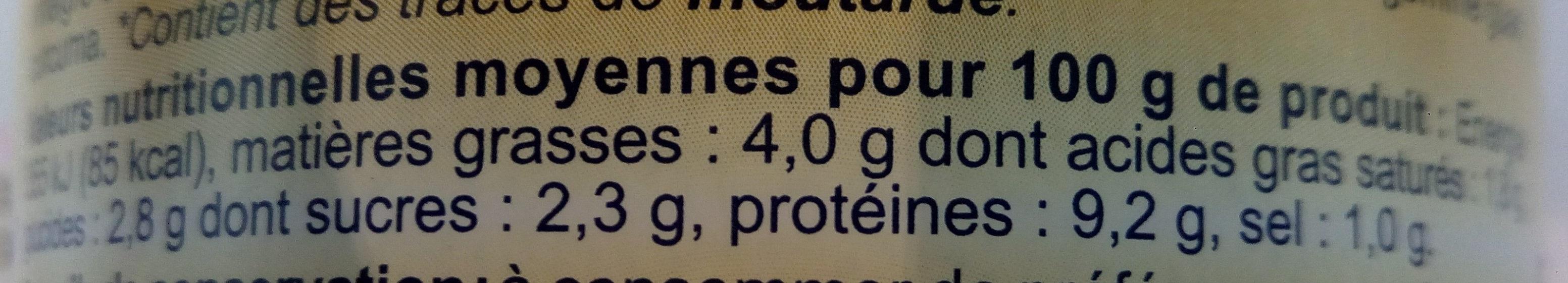 Sauce Curry au Thon - Informations nutritionnelles