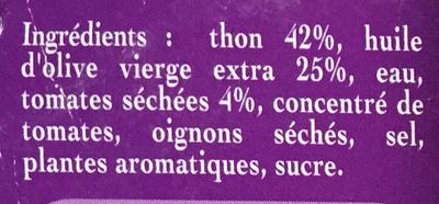 Emietté de Thon aux Tomates Séchées - Ingredients