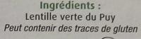 Lentilles Vertes du Puy - Ingredienti - fr