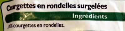 Courgettes en rondelles - Inhaltsstoffe