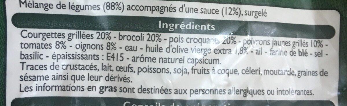 Légumes Cuisinés à l'Italienne - Ingrediënten