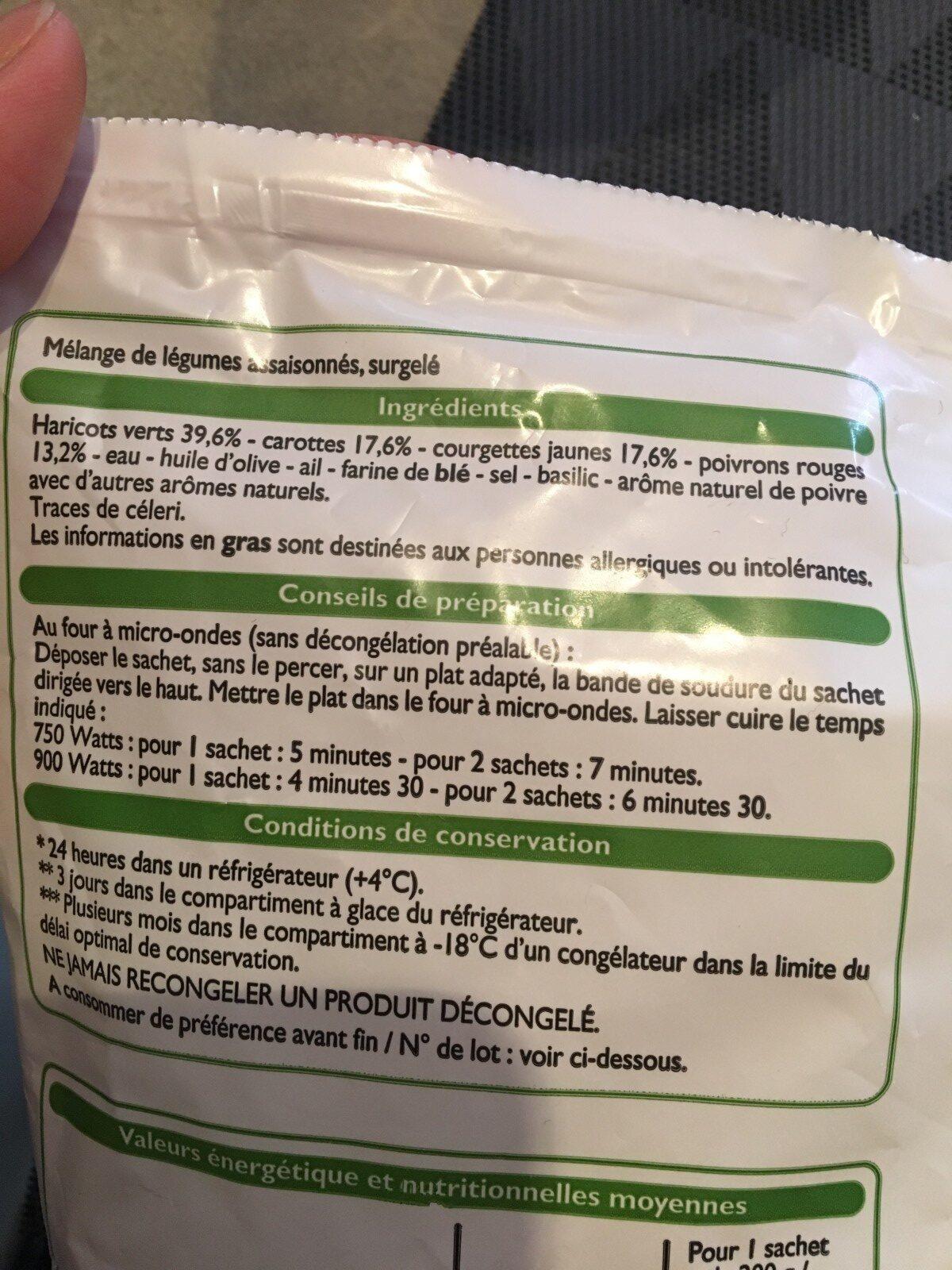 Mes légumes vapeur assaisonnés - Ingrediënten