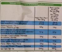 Mes légumes vapeur assaisonnés - Voedigswaarden