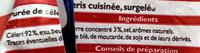 Purée de Céleris - Surgelé - Ingrediënten - fr