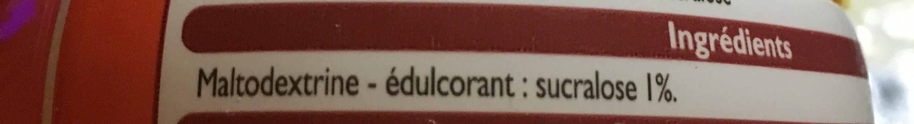 Édulcorant à base de Sucralose - Ingrediënten