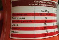 Édulcorant à base de Sucralose - Voedingswaarden