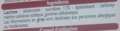 Édulcorant à base de Sucralose - Ingrédients - fr