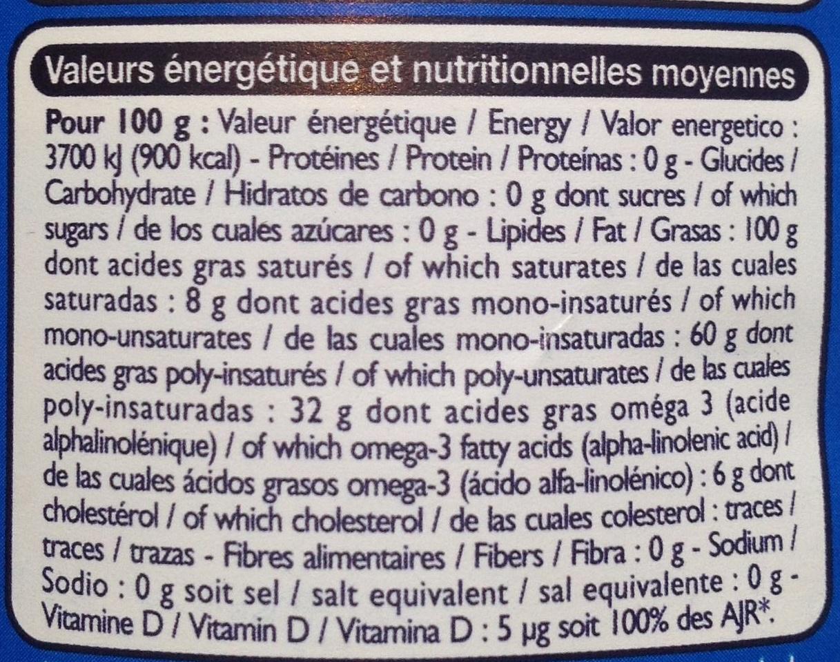 4 huiles, source d'oméga 3 - Valori nutrizionali - fr