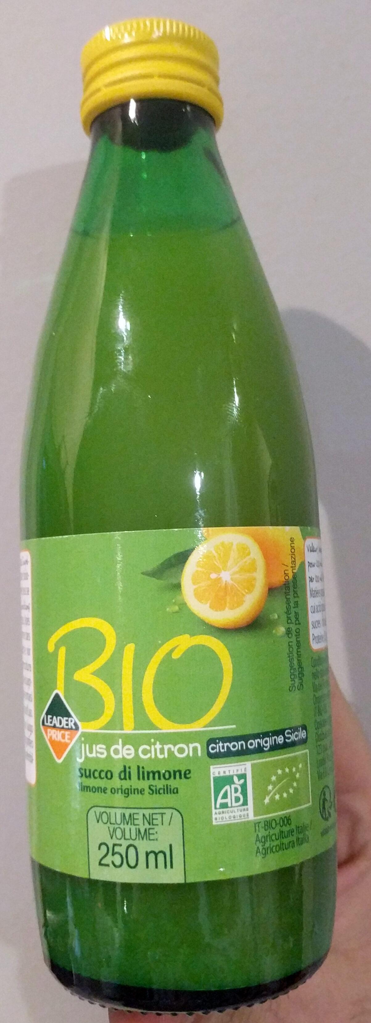 Jus de citron bio - Product - fr
