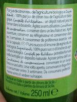 Jus de citron bio - Ingrediënten - fr