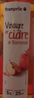 Franprix vinaigre de cidre de Normandie - Product - fr