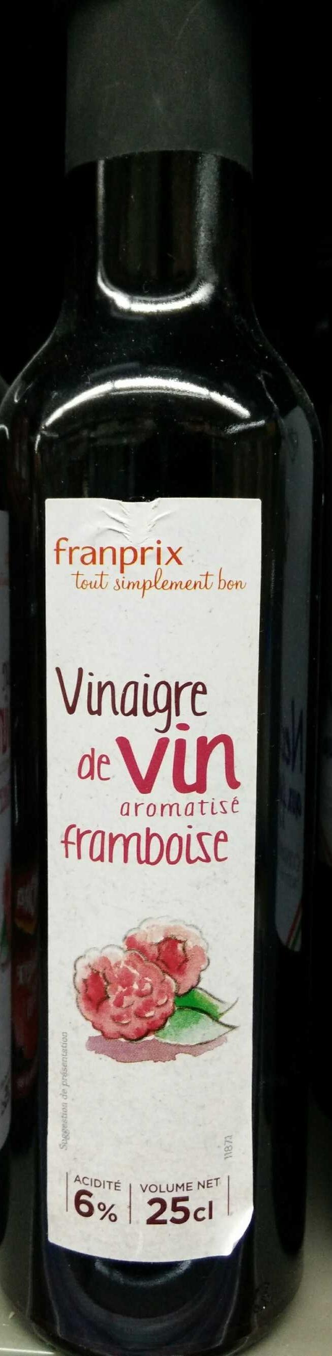 Vinaigre de vin aromatisé framboise 6% - Produit - fr