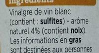 Vinaigre de vin blanc aromatisé noix 6% - Ingrédients
