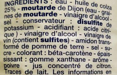Vinaigrette Allégée - Ingrédients - fr