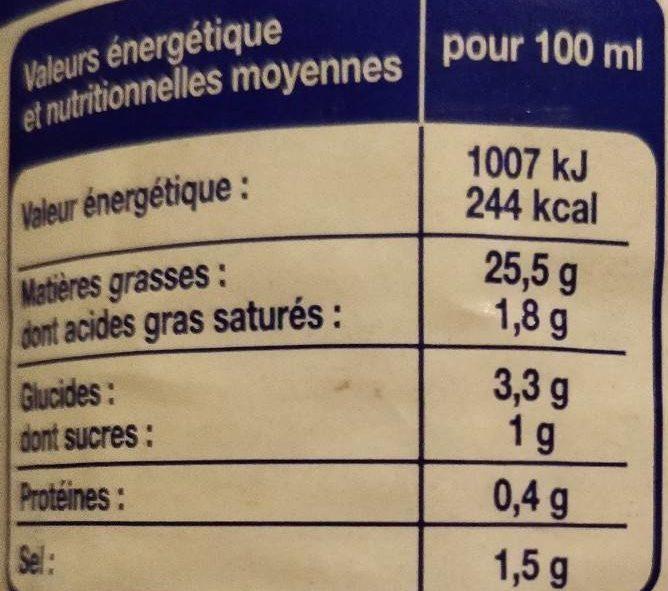 Vinaigrette Allégée - Informations nutritionnelles - fr