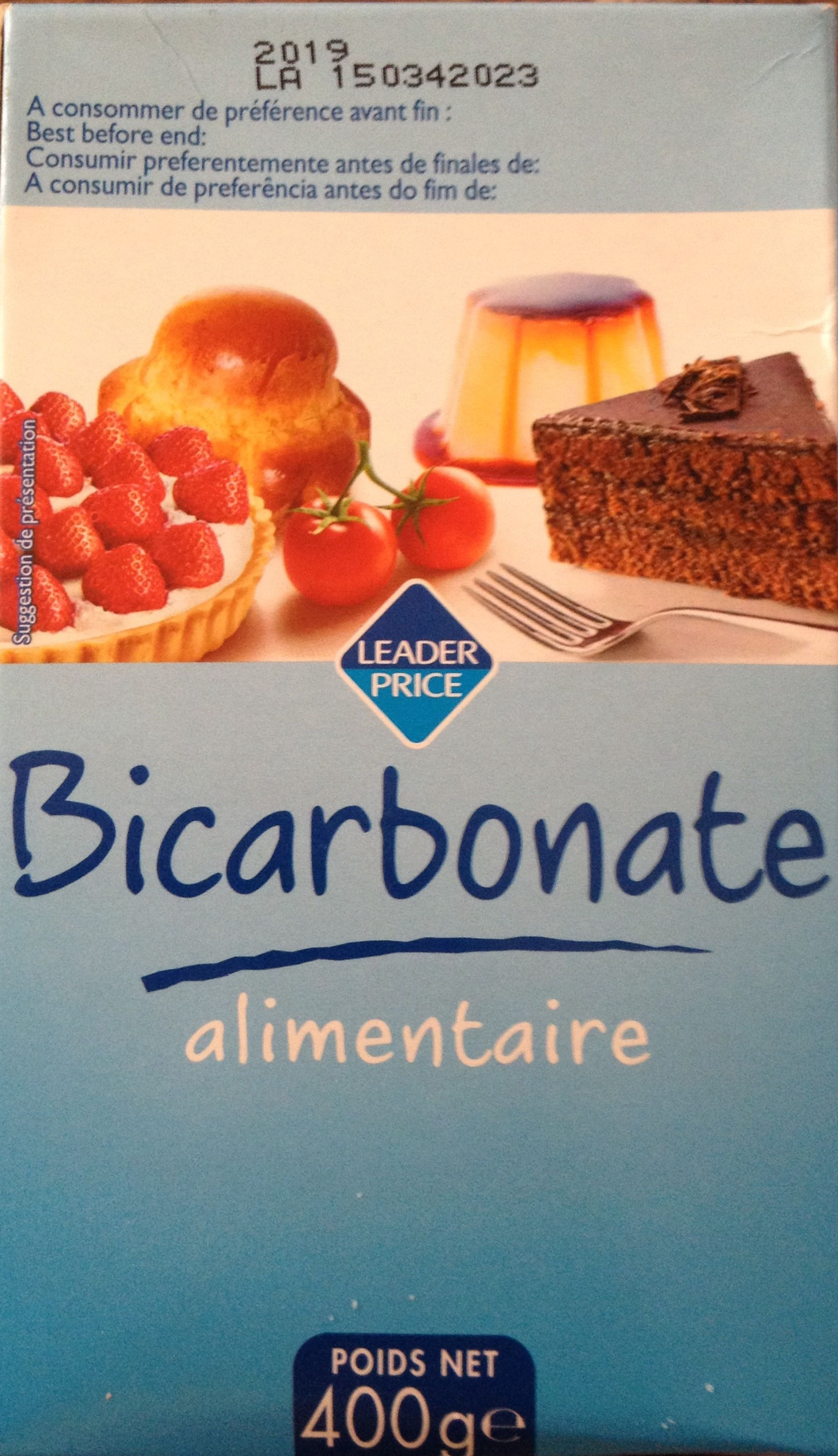 bicarbonate alimentaire leader price 400 g. Black Bedroom Furniture Sets. Home Design Ideas