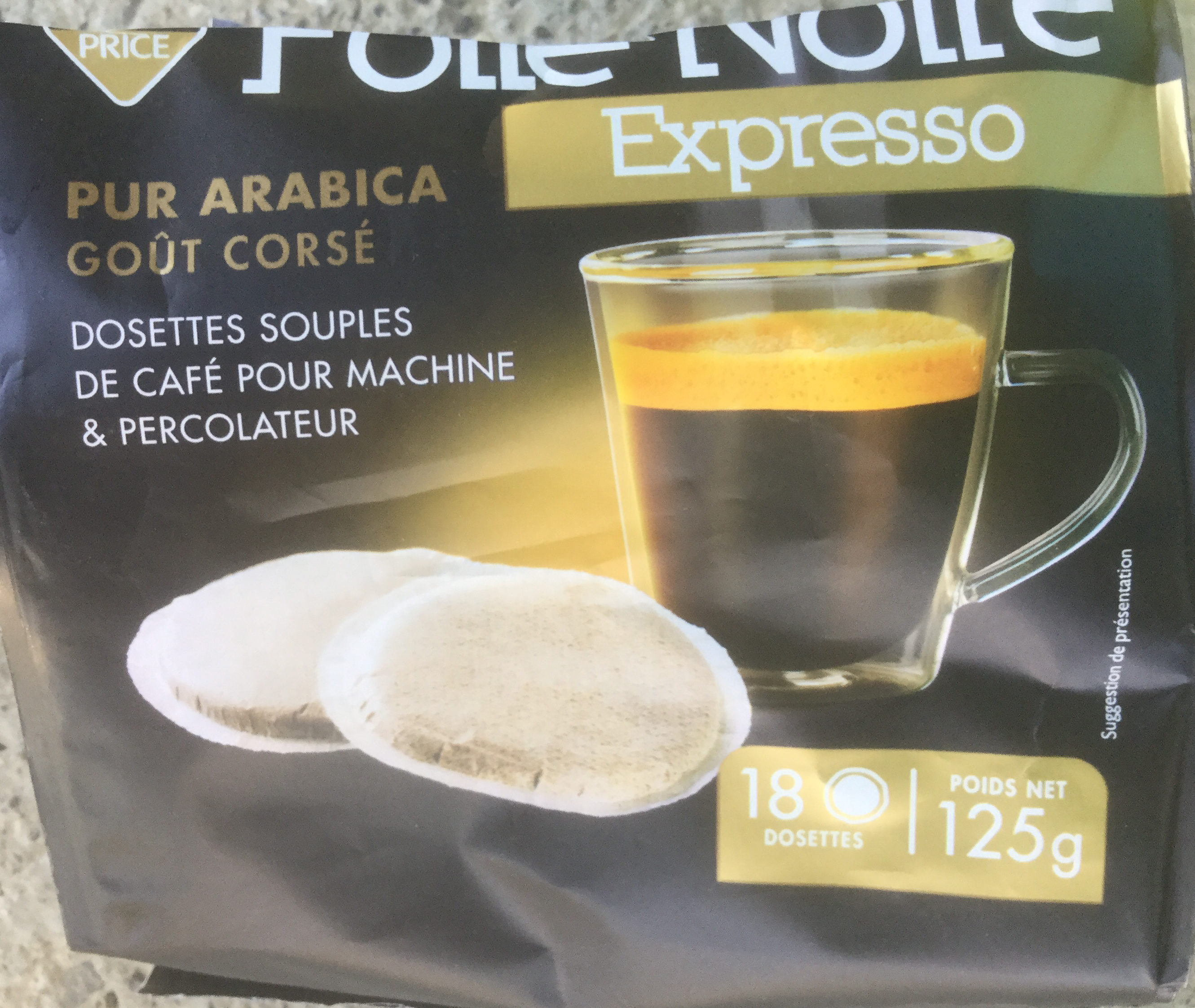 Dosette Expresso x18, - Product - fr