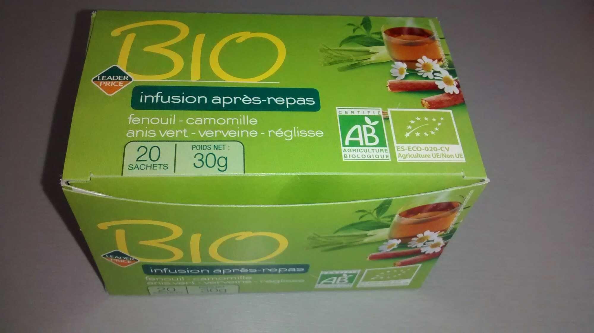Infusion après repas BIO - Leader Price - Product - fr