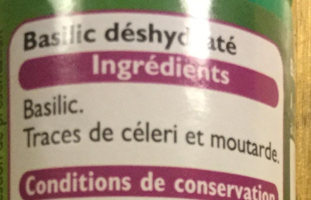 Basilic entier - Ingrediënten