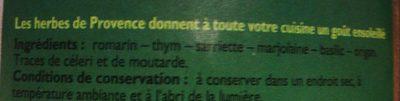 Herbes de Provence, 85 g - Ingredients