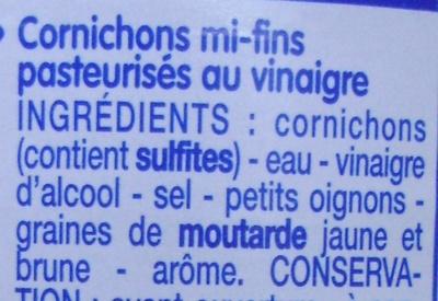 Cornichons au vinaigre - Ingrédients - fr