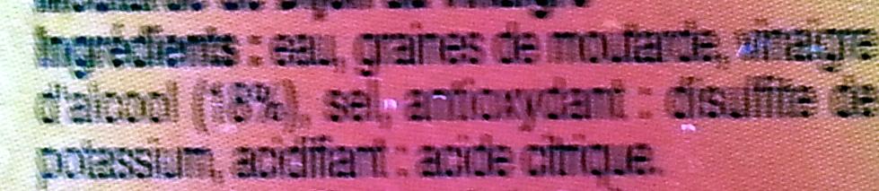 moutarde de dijon leader prixe - Ingredients - fr