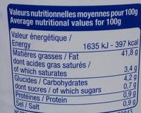 Mayonnaise allégée - Informations nutritionnelles - fr