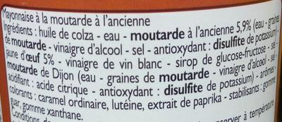 Mayonnaise à la moutarde à l'ancienne - Ingrédients - fr