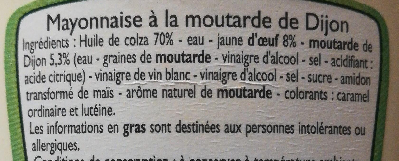 Mayonnaise a la moutarde de dijon - Ingredients - fr