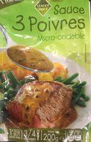 Sauce 3 Poivre Micro-onde, 200g - Produit - fr