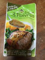 Sauce 3 Poivre Micro-onde, 200g - Informations nutritionnelles