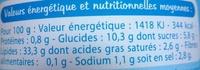 Mayonnaise Fine Ligne - Informations nutritionnelles - fr