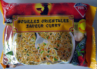 Nouilles orientales saveur curry - 85 g - Leader Price - Product