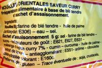Nouilles orientales saveur curry - 85 g - Leader Price - Ingrediënten