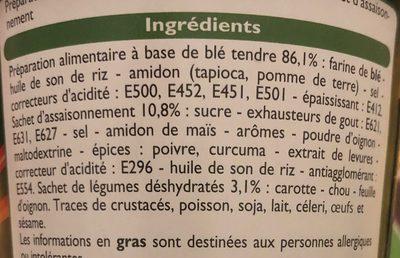 Nouilles saveur Légumes - Ingrédients - fr