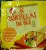 8 tortillas de blé - Product