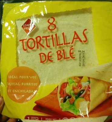 8 tortillas de blé - Product - fr