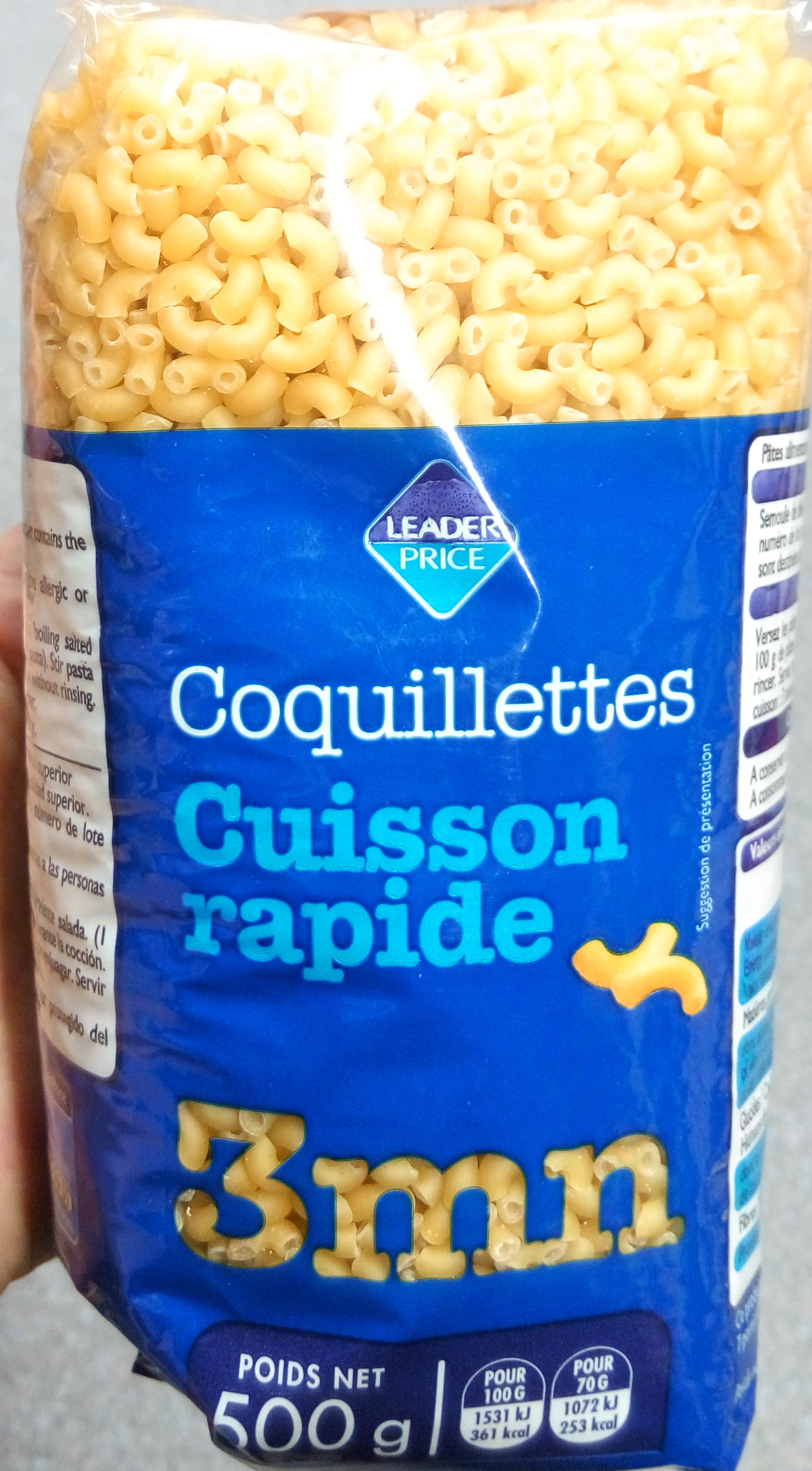 Coquillettes cuisson rapide 3 mn - Product - fr