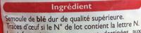 Coquillettes - Ingrediënten - fr