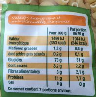 Bio coquillettes - Nutrition facts - fr