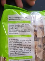 Farfalles complètes bio - Ingredients - fr