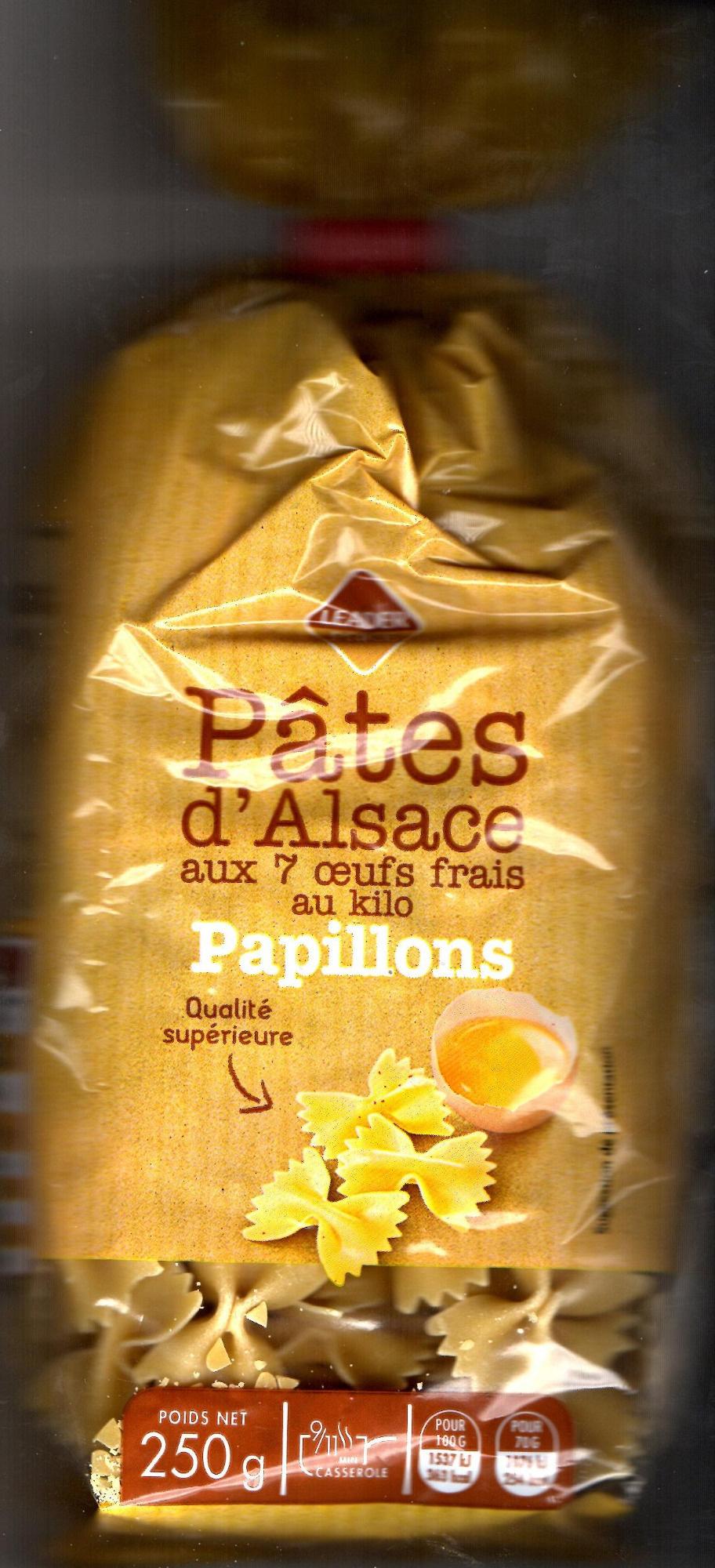 Papillons - Pâtes d'Alsace 7 Œufs Frais au Kilo - Product