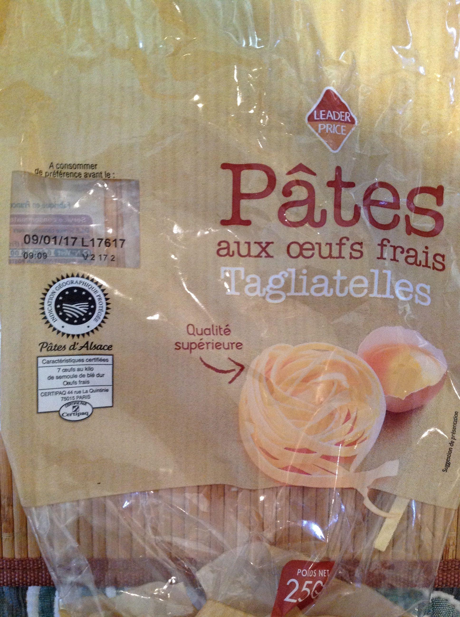 Pâtes aux œufs frais, Tagliatelles (Pâtes d'Alsace) - Produit