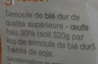 Lasagnettes - Ingrédients - fr