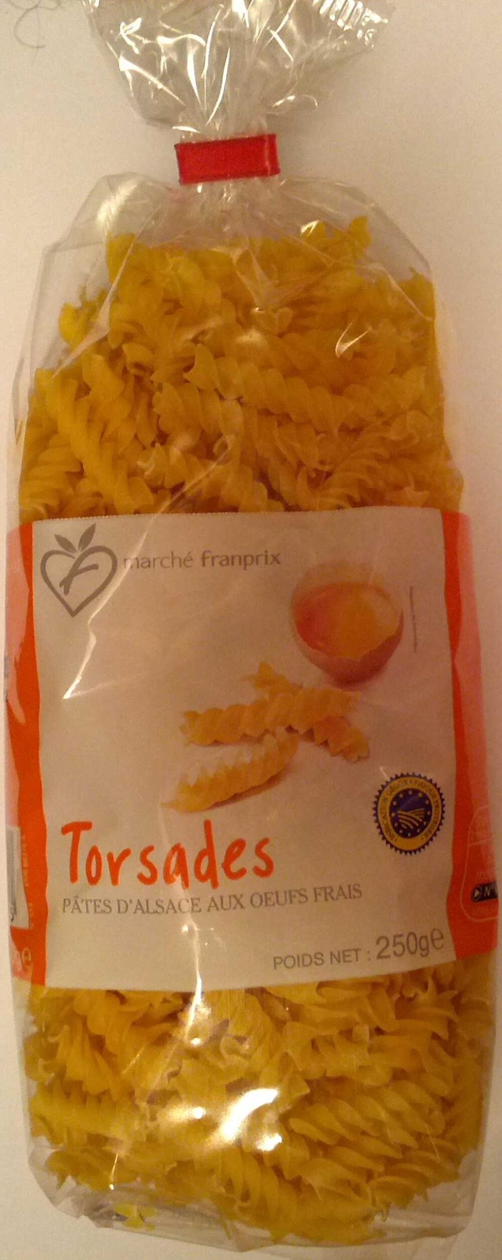 Torsades, Pâtes d'Alsace aux œufs frais - Produit