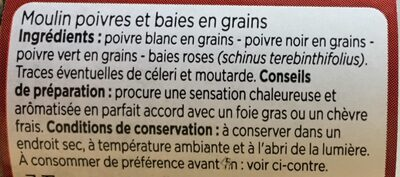Moulin poivres et baies - Ingrediënten - fr