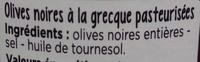 Olives noires à la grecque - Ingredients
