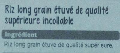 Riz long grain - Ingredients