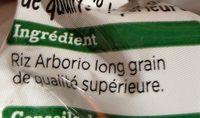 Riz risotto - Ingrédients - fr